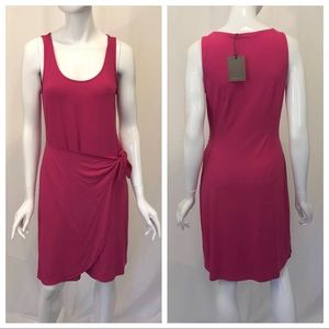 Tommy Bahama Hot Berry Pink Twist Tie Dress Small